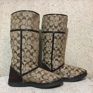 👢Coach Fabric Boots👢